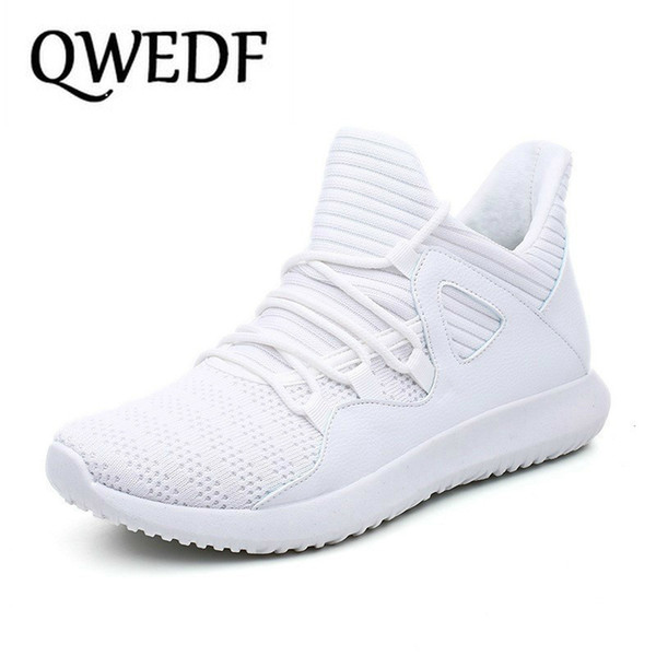 QWEDF White Breathable Man Casual Shoes Tenis Masculino Adulto Comfortable Male Sneakers Black Big Size Baskets Homme X1-34