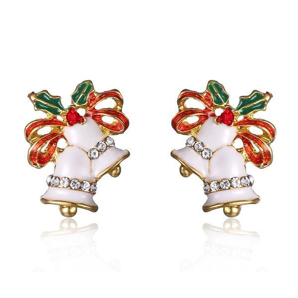 Natal boutique brinco moda Pequeno sino brincos brincos tema de natal Papai Noel Natal
