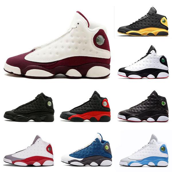 Klasik stil 13 13 s erkek Basketbol Ayakkabıları GS Bordo Oyunu Var İrtifa Bred Black Cat Spor ayakkabı eğitmenler sneaker boyutu 8-13