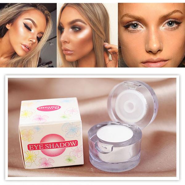 Melhor 2 em 1 Eye Highlighter maquiagem brilhando Shimmer pó rosto clarear pigmento cor branca única paleta de sombra para transporte rápido da gota