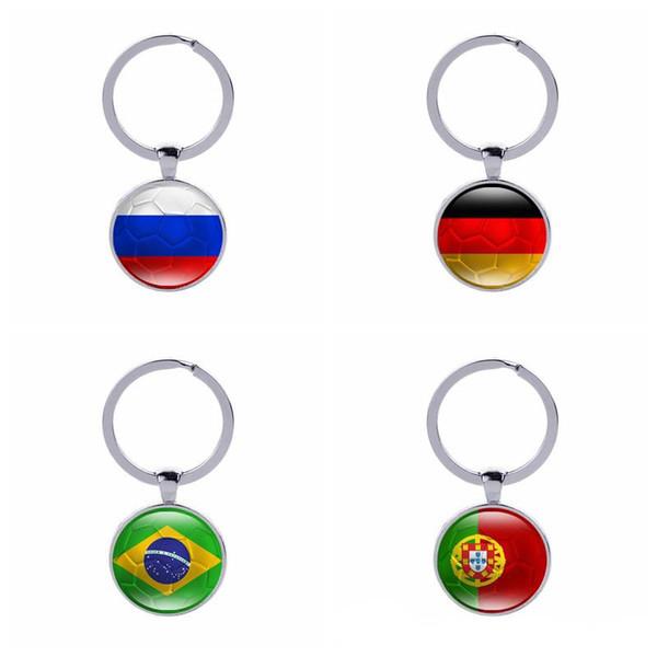 Football Porte-clés Coupe Du Monde Pays Drapeaux Football Club Fans Souvenir Porte-clé De Voiture Sac Accessoires Accessoires Porte-clés En Gros