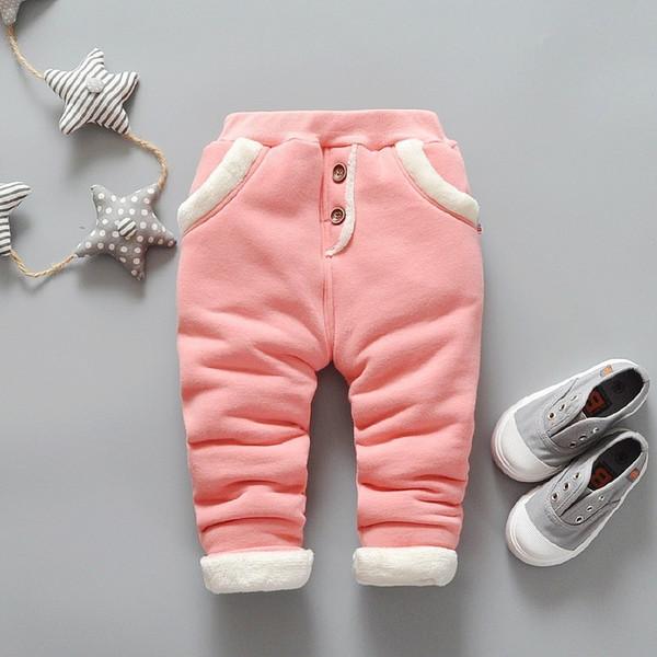good quality 2019 Baby Warm Pants for Girls children Plus velvet thick leggings Infant Autumn winter warm baby pants 2019 New pants