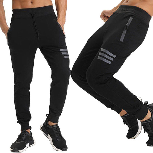Men Long Casual Sports Pants Gym Hip Hop Trousers Running Jogger Gym Sweatpants