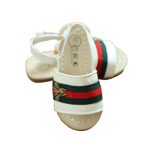 mode enfants sandales loisirs de pâte magique Chaussures plates Little Bee Chaussures de plage pour enfants garçons gils 2colors