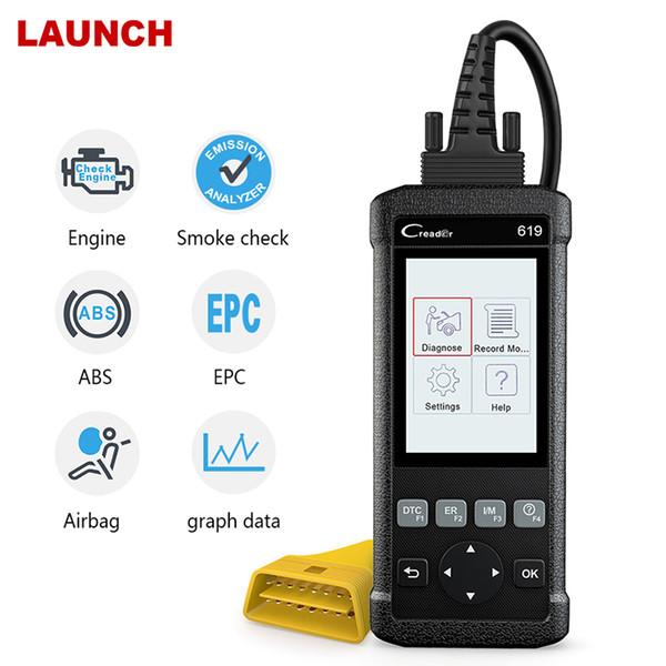 CR619 OBDII Automotive Scanner SAS ABS SRS Airbag Multi-Language ODB2 Fault Code Reader OBD 2 Diagnostic Tool Free Update