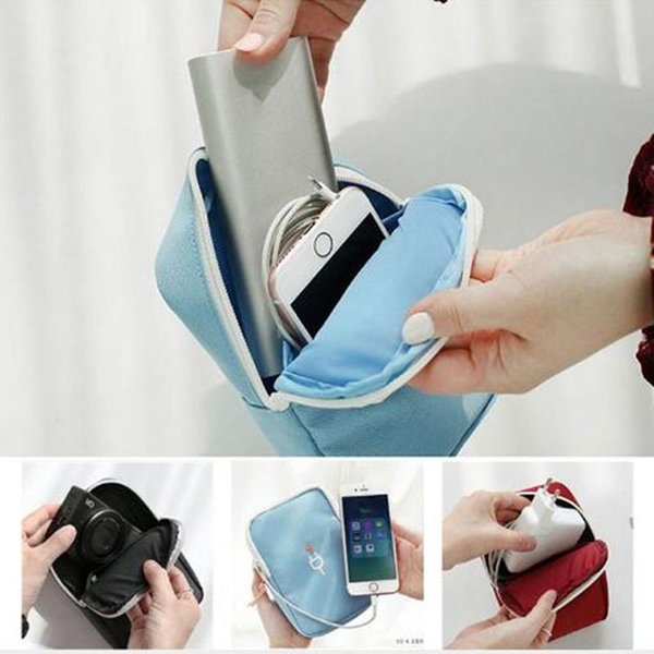 U Disk Power Bank Earphone Storage Bags Waterproof Data Cable Storage Bag Phone Bag Travel Portable Digital Accessories Organizer BC BH0786