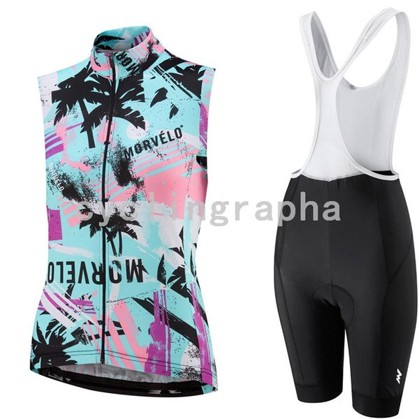MORVELO team Cycling Sleeveless jersey Vest (bib)shorts sets top sales women outdoor riding new products comfortable D2011