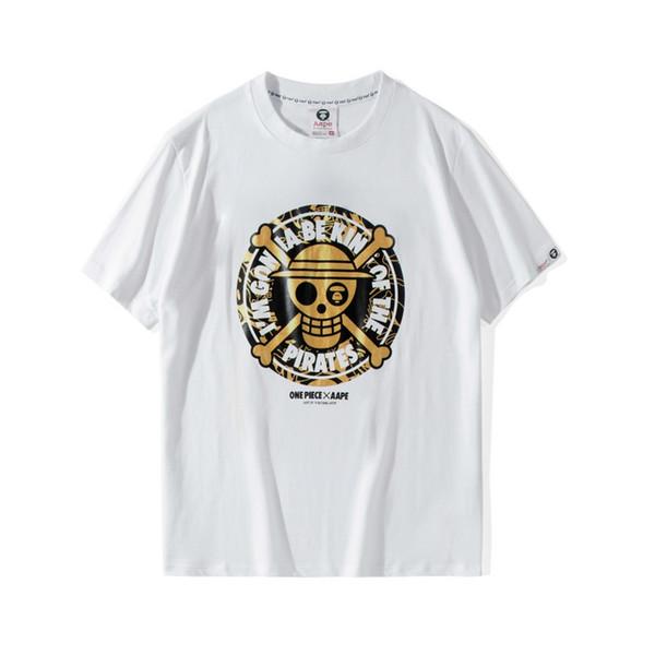 Aape Mens Tees Mens Womens Designer di alta qualità Stampa T Shirt Mens Designer Cute Cartoon Stampa T Shirt A Bathing Ape Designer Tee
