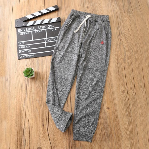 Children's casual sports pants cotton fabric breathable comfort super wild 19 summer tide practical thin sectionin