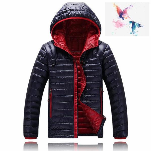 2018. Высокое качество Новая зимняя мужская куртка вниз фугу вскользь толстовки бренд NORTH вниз ветровки Теплые Горнолыжная мужские лица пальто 1501