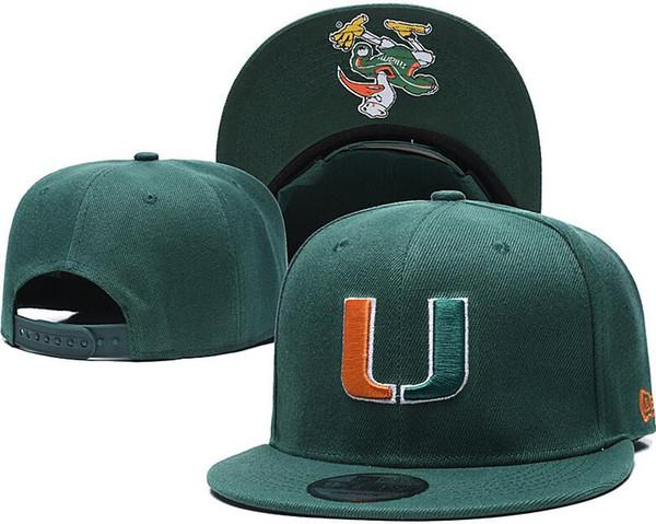 NCAA UCLA Snapback Caps nero giallo grigio Texas Longhorns Cappello Miami Hurricanes LSU Tigers Caps una taglia