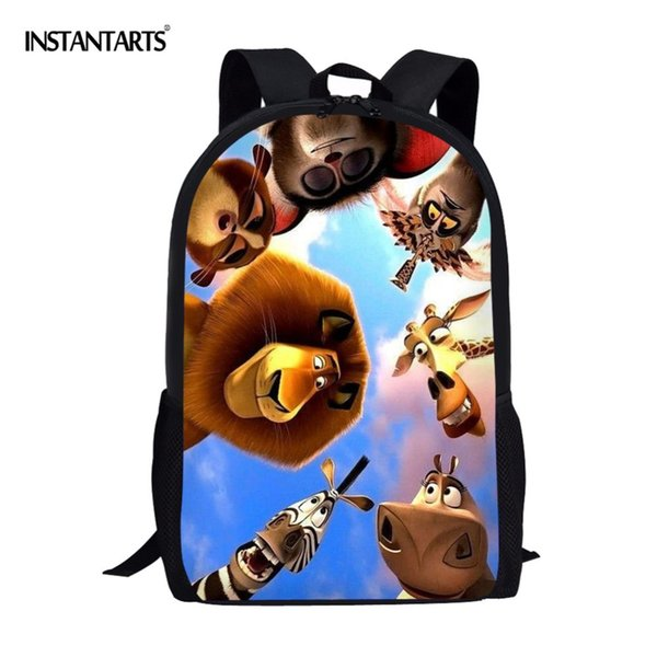 INSTANTART Cute Cartoon Movie Roles Printing Primary School Students Backpacks 3D Pattern Design Children Book Bags 16 Inch Boys