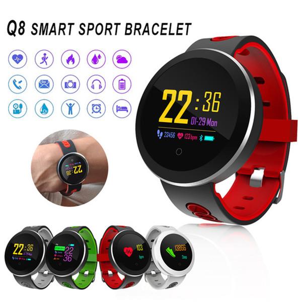 Q8 Pro SmartWatch Фитнес Tracker закаленного стекла Смарт Часы IP68 водонепроницаемый Heart Rate Monitor Умный браслет