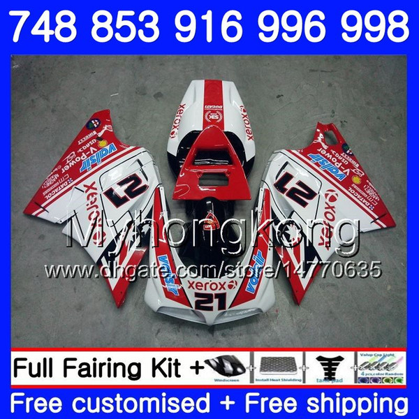 Kit For DUCATI 748 853 916 996 998 S R 94 95 96 97 98 327HM.11 748S 853S 916R 996R 998S 748R 21# Red white 1994 1995 1996 1997 1998 Fairing