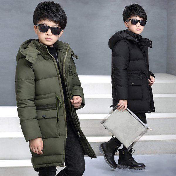 Hot 2018 Kids Winter Jacket for Boys Giacca per bambini Cappotti con cappuccioParkas Thick Children Overcoat Kid Clothes Baby Boy Clothes