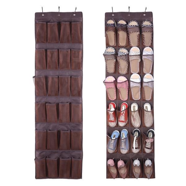 Tienda online estilo novedoso varios estilos Compre 24 Bolsillos Transparentes En La Puerta Organizador Del Armario  Zapatos Zapatillas Exhibición De Almacenamiento Ordenado Colgar En La Pared  ...