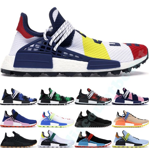 2019 human race bbc de igner hoe pharrell william hu neaker olar pack oreo multi color nerd men women golf running hoe 36 47