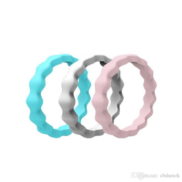 Nuova forma onda piuttosto colorato Finger Silicone Rubber Hoop fascia della mano Anello Mech Protezione Vape Mod Vape vaporizzatore RDA Serbatoi Decora DHL