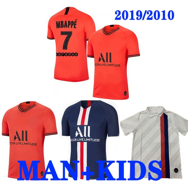 DHL Thailand Maillots de foot 19 20 PSG Fußball Trikot 2019 2020 Paris MBAPPE Deutschland Trikot T-Shirt Fußball Trikot Meister Trikot Männer Kinder