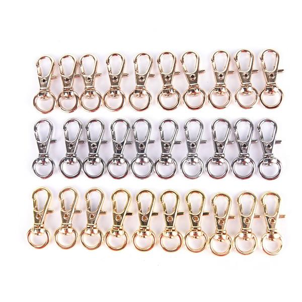 10pcs moschettone in metallo mini fibbia girevole gancio aragosta catena chiave alta qualità
