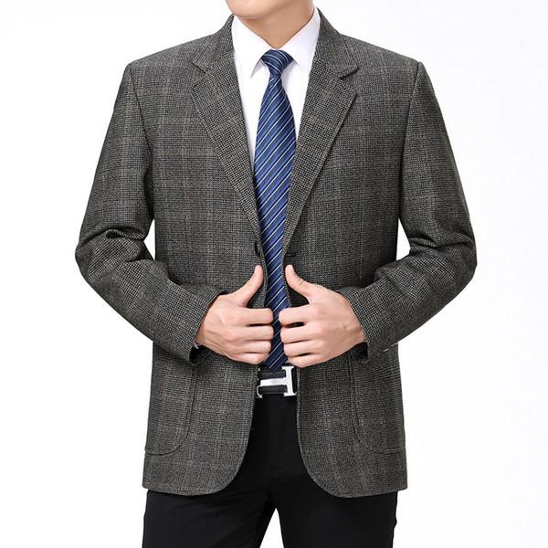 2019 новое поступление высокого качества смарт-случайный плед блейзер мужчины, мужские повседневные костюмы, мужские куртки