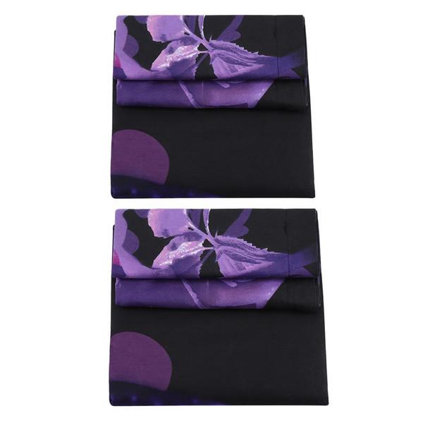 4PCS Bedding Sets Comfortable Duvert Cover Set Purple Rose Double King Size Bed Comforters Duvet Cover