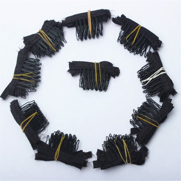 Hot Selling 30pcs 50pcs 100 Pcs Durable Black Snap Comb Clips For Hair Small Wig Clips For Wig Caps