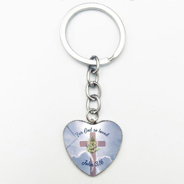Portachiavi in metallo con portachiavi a forma di cuore creative Nuovo Moda