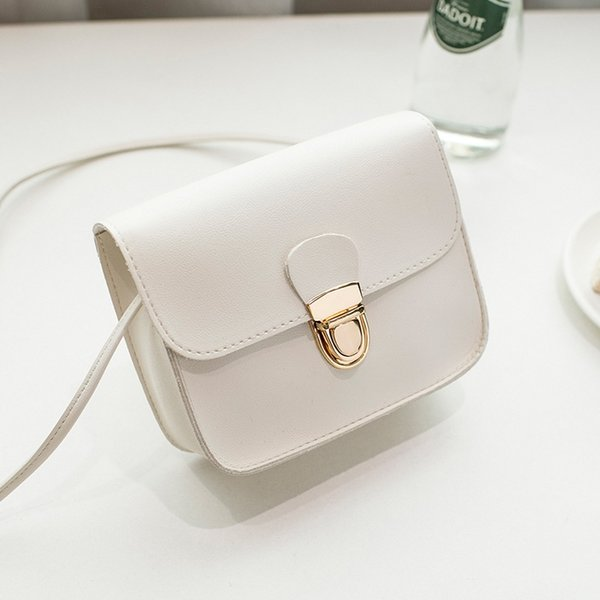 2019 New Fashion Ladies Messenger Bags Cheap Hasp PU Leather Small Shoulder Bags Women Crossbody Bag For Girl Brand Handbags 102 #34473