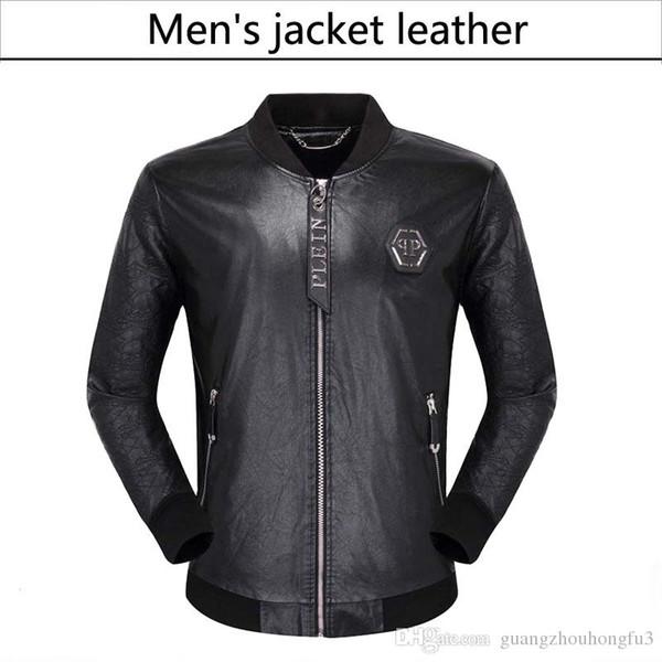 NOVA Moda masculina de couro da motocicleta casacos casacos jaqueta de couro casaco de couro usado