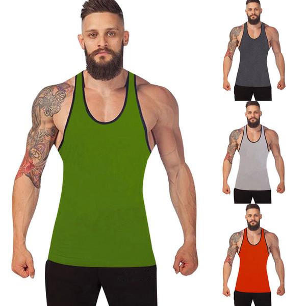 Men Gym Bodybuilding Tank Top Vest Racerback Singlet Sport Sleeveless man's clothes debardeur homme camiseta de tirantes hombre