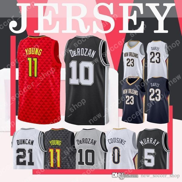 cheap for discount 22892 94dcf 2019 Demar 10 DeRozan Antonio Mens Spurs Jersey Manu 20 Ginobili 5 Murray  Pelicans 0 Cousins 23 Davis 11 Young 4 Webb Hawks Jerseys From ...