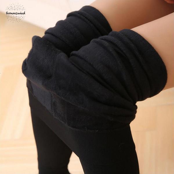 Kış Süper Elastik Kadınlar Tayt İçin Pantolon Renkler Kadınlar Kadın Artı Kadife Kalın Şeker Sıcak Tozluklar Bayan Pantolon