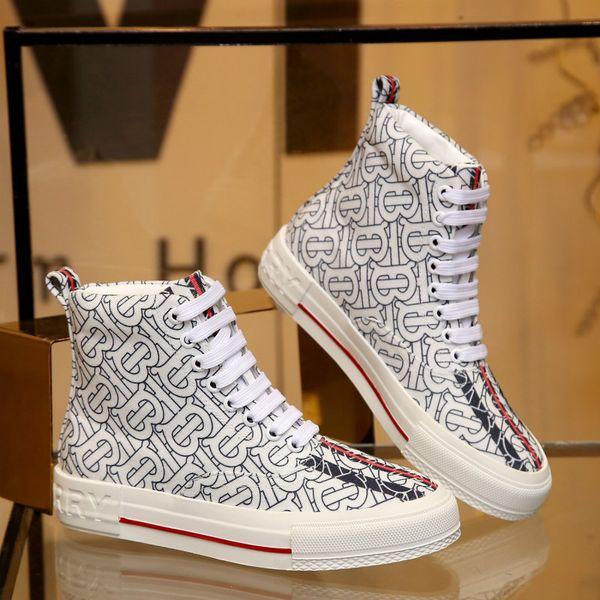 scarpe da uomo di moda nuova cintura alta cima piatta scarpe casual classico stile caldo (con il sacchetto di polvere + scatola)