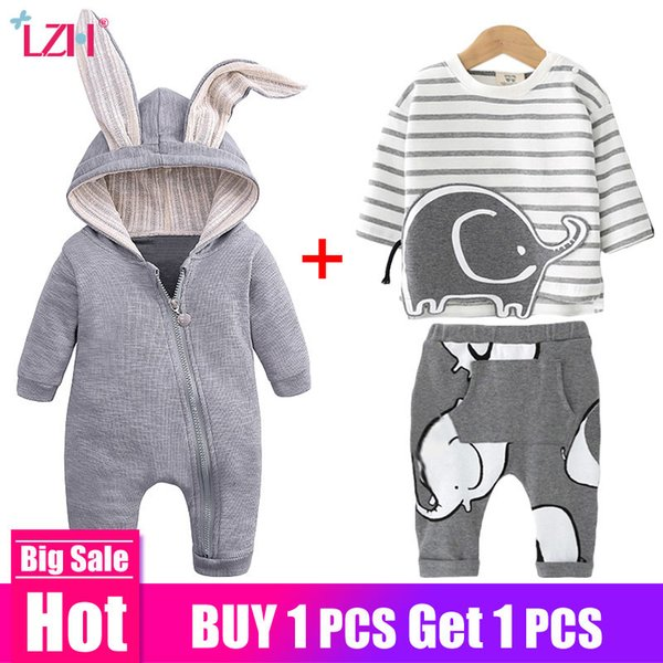 Newborn Sets Spring Summer Clothes Suit For Baby Boys Girls Outfit Casual Infant Clothing 0-2 Year Q190521