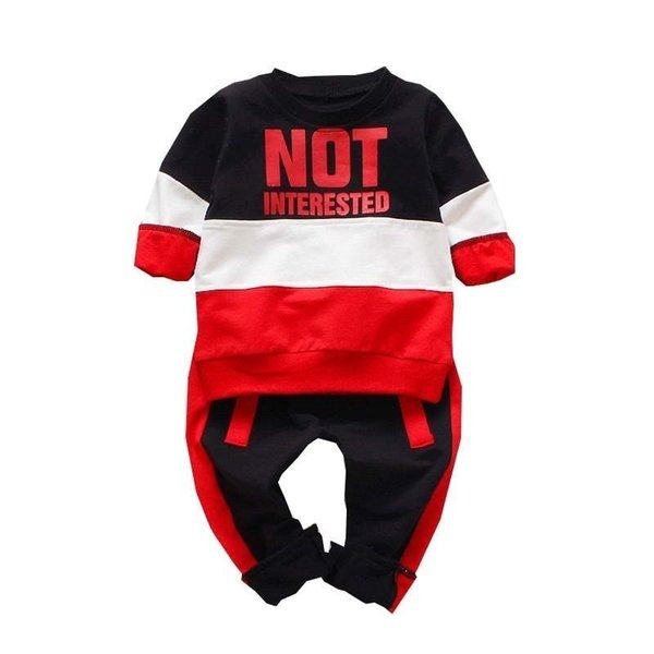 Spring Autumn Baby Girls Boys Clothing Sets Infant Casual Sport T-shirt Pants 2pcs/sets Children Clothes Suits Cotton Tracksuits