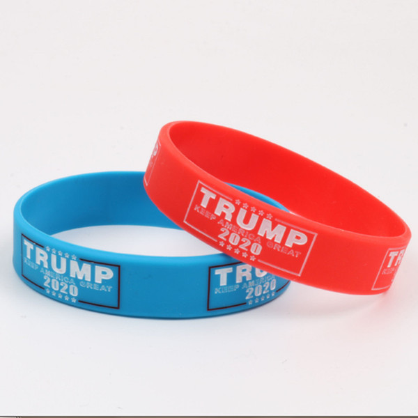 top popular Donald Trump 2020 Silicone Bracelet Keep America Great Wristband the USA General Election Bangle Soft Sport Band DHL 2021