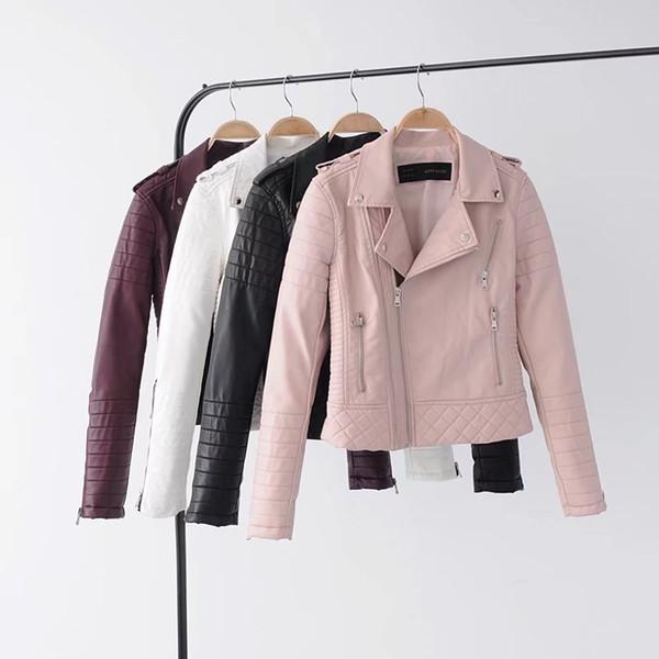 Manteau Femme 2018 Veste en cuir PU femme Short Base Jacket Riverdale manteau en cuir noir pour femme perfecto Outwear deri mont