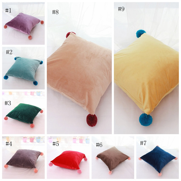 Bedroom Decorative Pillow Case 10 Styles Solid Candy Color Cushion Covers  Nordic Modern Minimalism Khaki Yellow Pink Cushion Cover EEA180 Cushion ...
