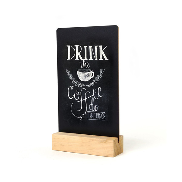 best selling Mini Blackboard Message Stand Menu Stand Price Display Rack Countertop Sign Board Billboard Signage Plate Table Top Desk Sign