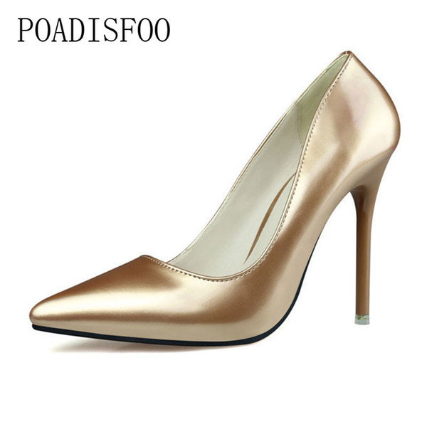 Designer Dress Shoes Simple high-heeled Thin With Shallow Mouth Was Thin And Elegant Professional OL Pointed High Heels .ZWM-2586-1