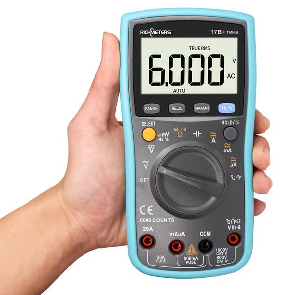 45% RM17B + 6000 Conta multimetro digitale Max AC Voltage Current Meter Resistance Diode Resistance Tester di capacità