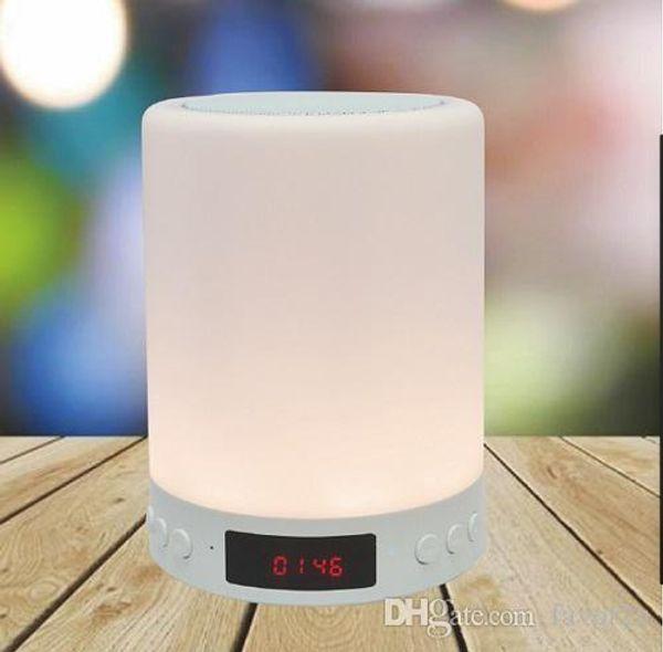 Luce notturna multicolore Altoparlanti Bluetooth Altoparlante portatile per musica Smart TouchControl LED Comodino Lampada Vivavoce TF Card
