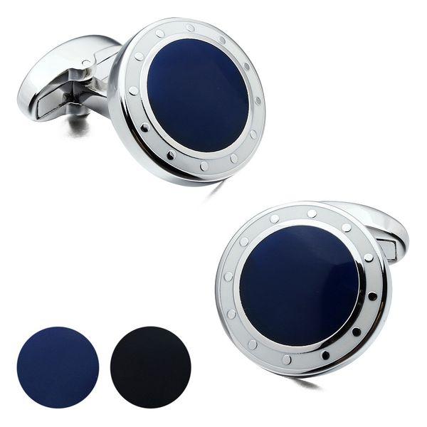 Marque HAWSON luxe Hommes Boutons de manchette BlueBlack Boutons de manchettes Designer Shirt Français manchette à vendre Marine