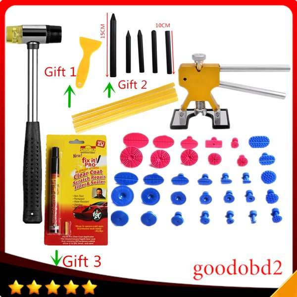 PDR Tools Set Dent Removal Paintless Repair Tool Glue Tabs With Rubber  Harmmer Gift Fix It PRO Pen+Sticks+Tap Down Pen Detailing Products For Cars