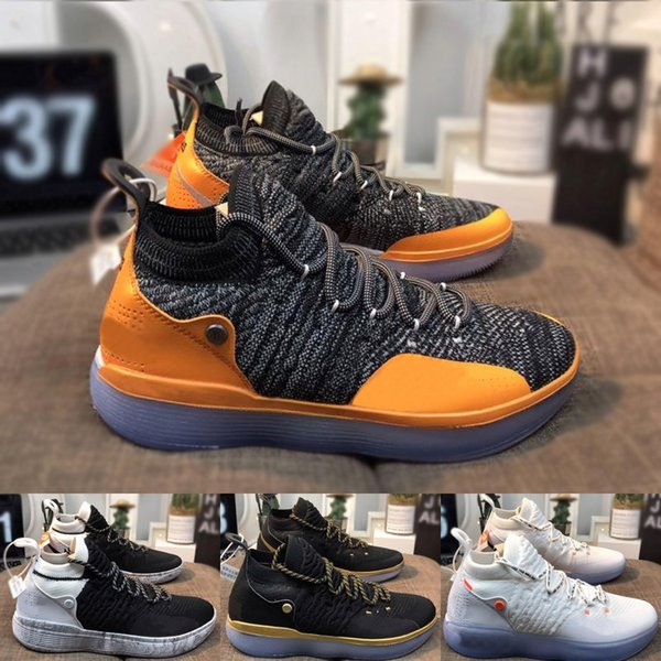 2019 nova moda de alta qualidade dos homens ao ar livre sapatos de grife de marca tênis de treinamento de basquete ao ar livre esporte sapatos KD11 com caixa