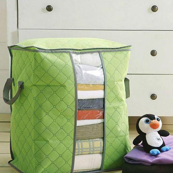 Quilt Storage Bag Portable Clothes Storage Bag Quilt Pillow Blanket Travel Luggage Closet Organizer