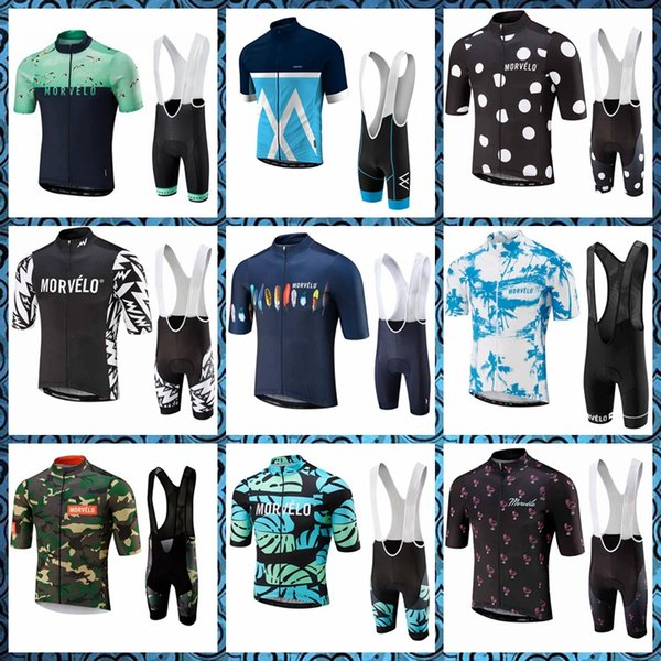 Morvelo Cycling Short Sleeves jersey Comfortable bib Breathable shorts sets fashion Sports suits Factory direct sales 52245