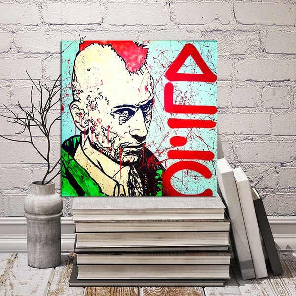 Mr Monopolyingly Graffiti Canvas Painting Wall Art Street Poster Print HD Picture for Living Room Home Decor Dropshipping