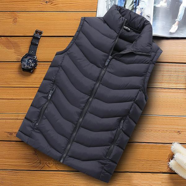 Gilet Homme Chaleco Hombre Homens Vest Jacket Men Casual Quente mangas Streetwear Vest homem inverno mais quente Moda Corpo revestimento dos homens